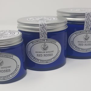 Red Roses Scented Vegan Soy Candles 3 Angle