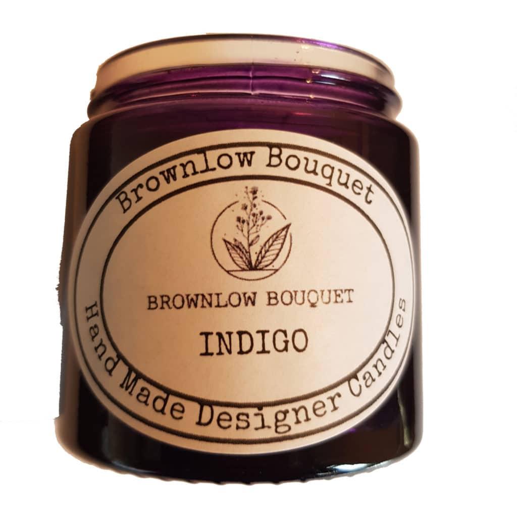 Custom Colour Translucent Gloss Indigo Jar with Label