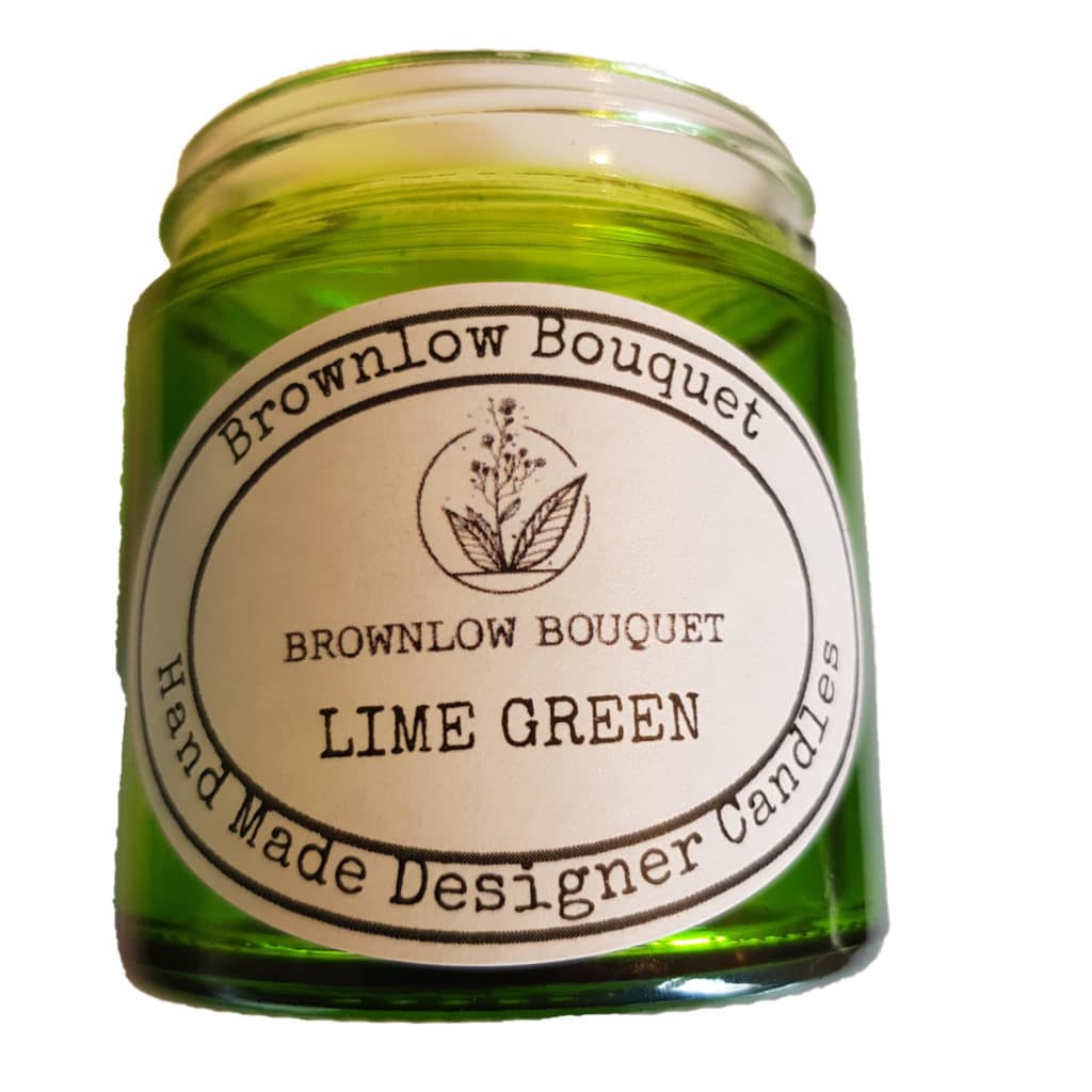 Custom Colour Translucent Gloss Lime Green Jar with Label