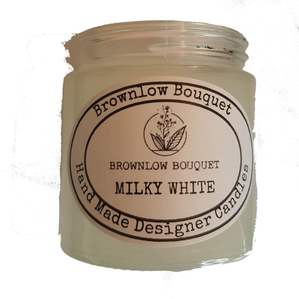Custom Colour Translucent Gloss Milky White Jar with Label