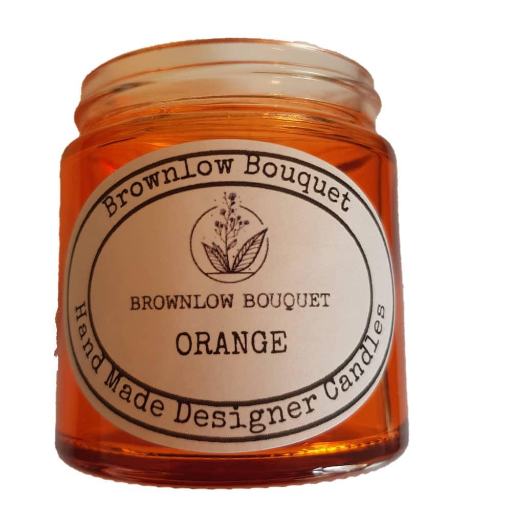 Custom Colour Translucent Gloss Orange Jar with Label